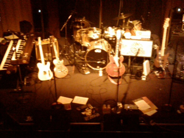 The view from above: set break