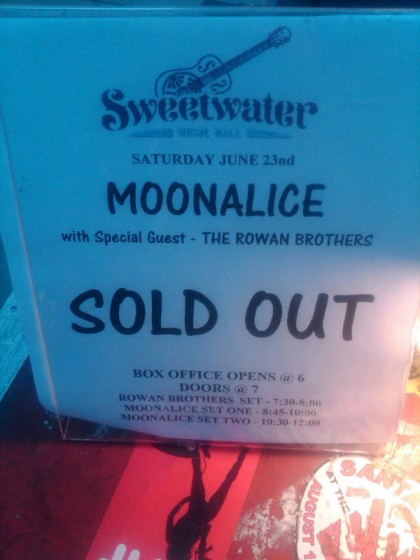 Moonalice: SOLD OUT at Sweetwater Music Hall (6.23.12)