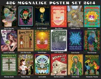 18 Mind Blowing Posters In Moonalice 2014 4/20 Poster Set!!!