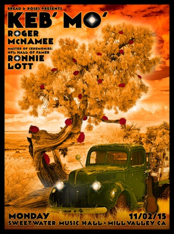 2015-11-02 @ Roger McNamee @ Bread & Roses Benefit w/ Keb Mo'