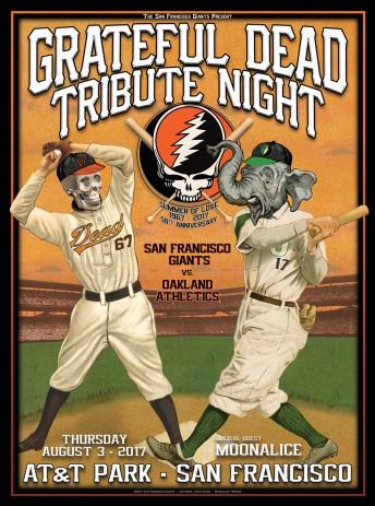 2017-08-03 @ Grateful Dead Night @ AT&T Park - Dugout Set