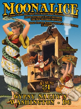 2019-08-21 @ Gypsy Sally's with Moonalice Big Band, including T Sisters and New Chambers Bros.