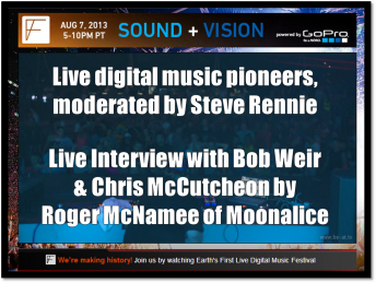 2013-08-07 @ 4Ever Festival Sound + Vision Conference simulcast